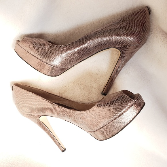8b26dccff93d Michael Kors Erika Leather Peep-toe Platform Heels.  M 5be72776c9bf50e91152be14
